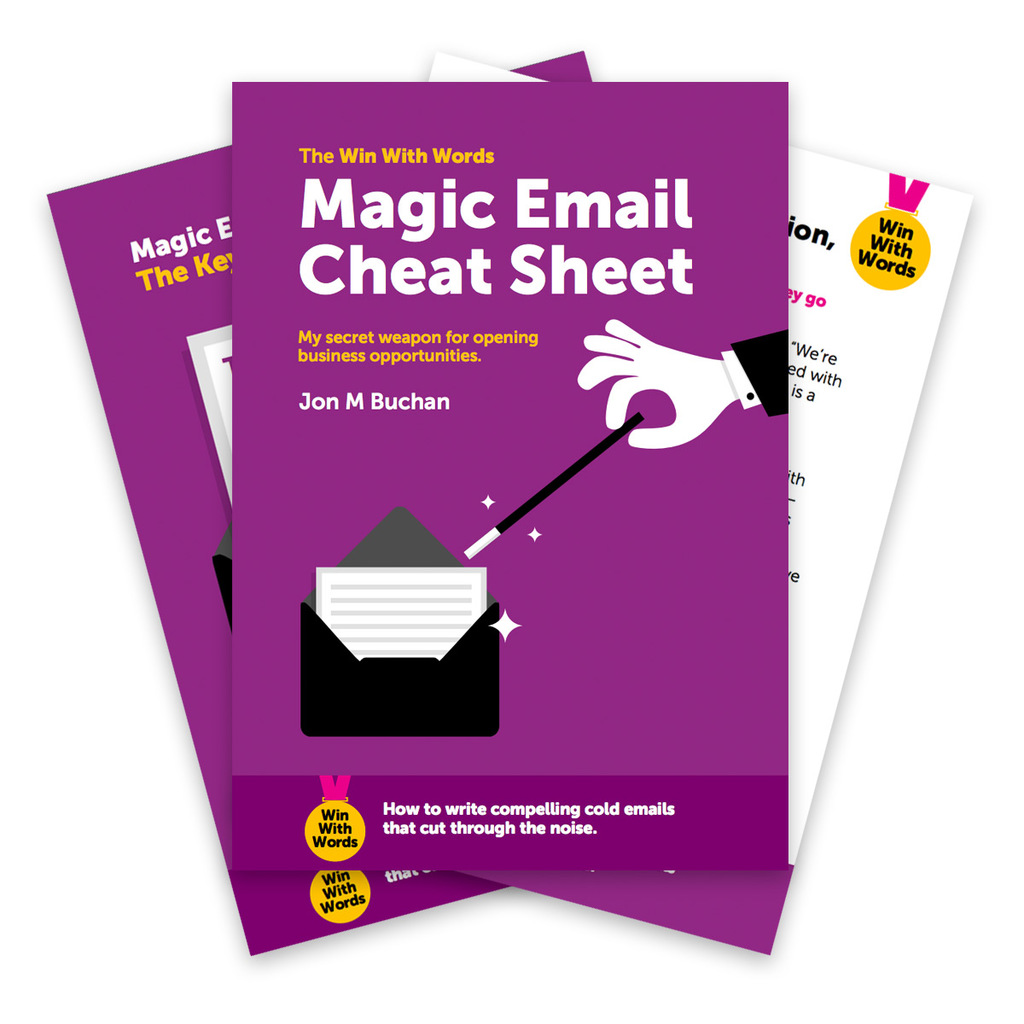 Magic Email Cheat Sheet - Cold Email Tips, Formulas, and Tactics